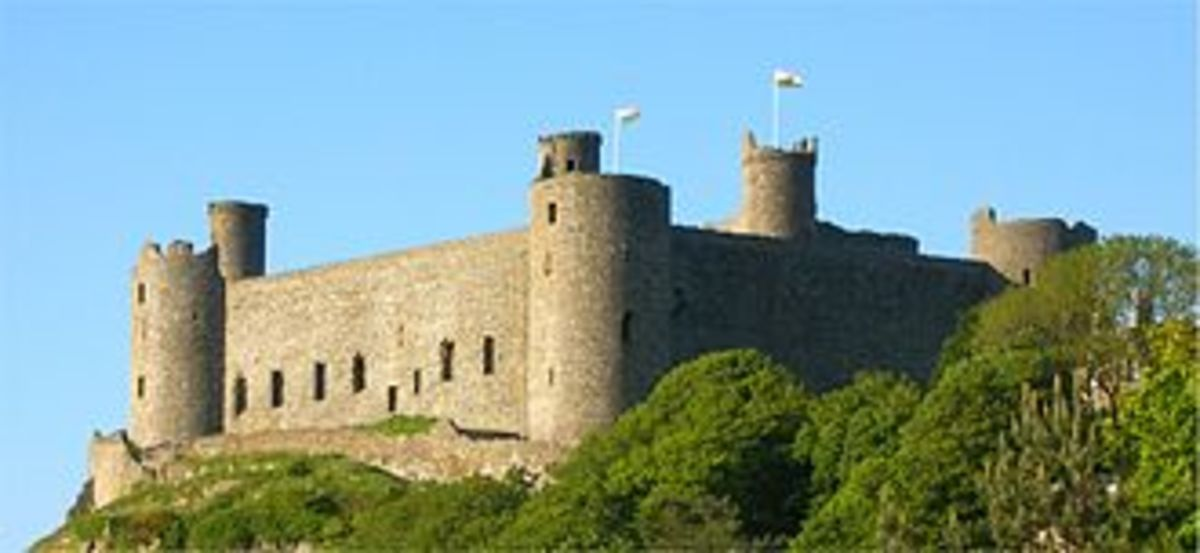 Harlech Castle when constructed in the 13th century used to be surrounded by water.