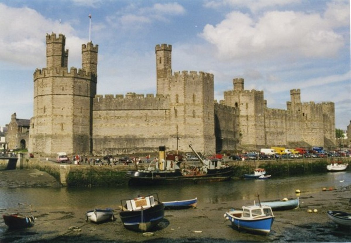 Caernarfon Castle where the Prince of Wales receives his investiture.