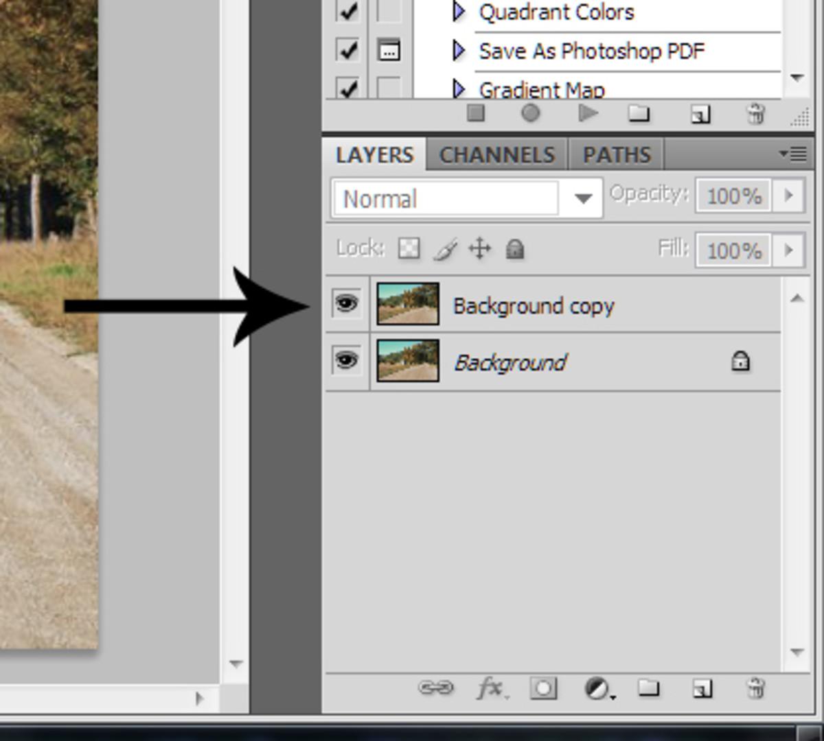 Create a duplicate layer.