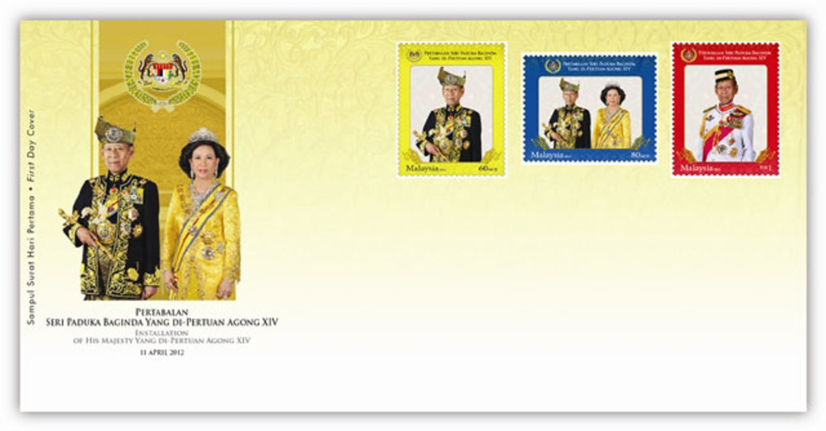 PHOTO 3: Agong Installation First Day Cover with Stamp Value: RM2.90