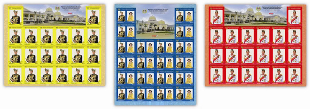 PHOTO 4: Malaysia Commemorative Stamp Sheets