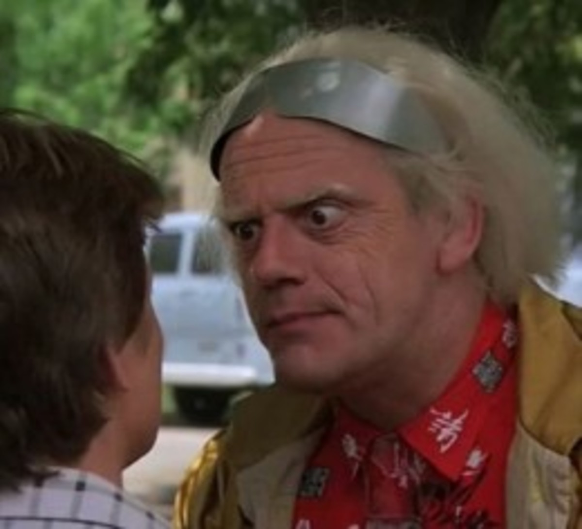 Doc Brown Costume with Marty McFly