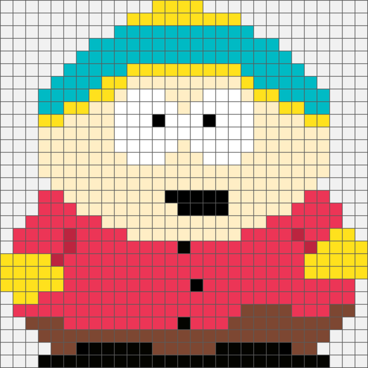 Cartman Hama Bead & Cross Stich Design