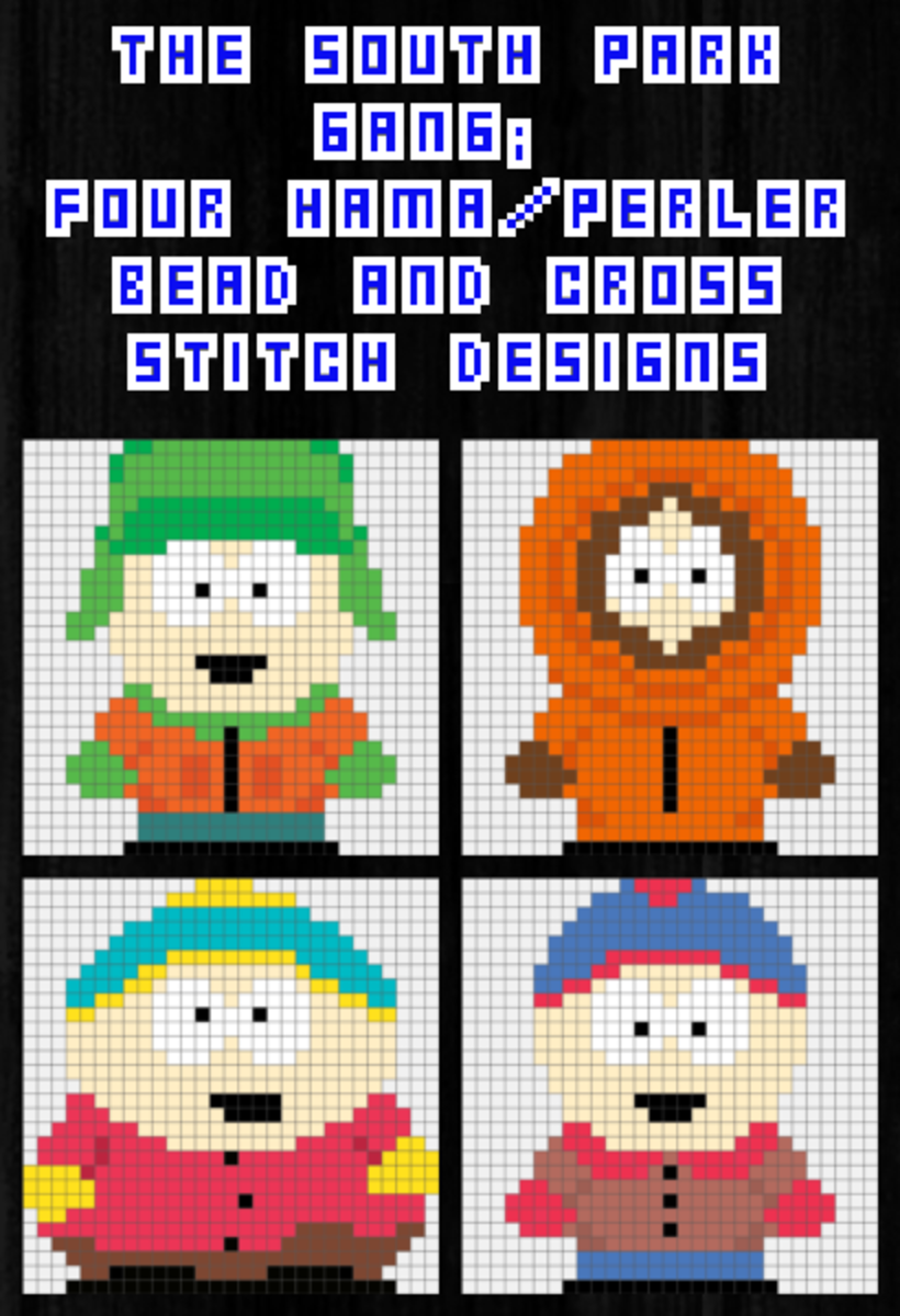 South Park Hama Bead and Crossstitch Designs