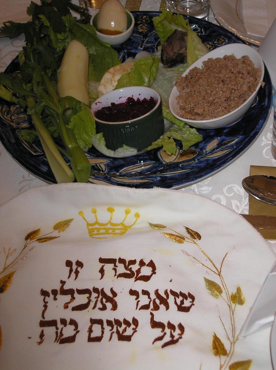 A Passover Seder meal