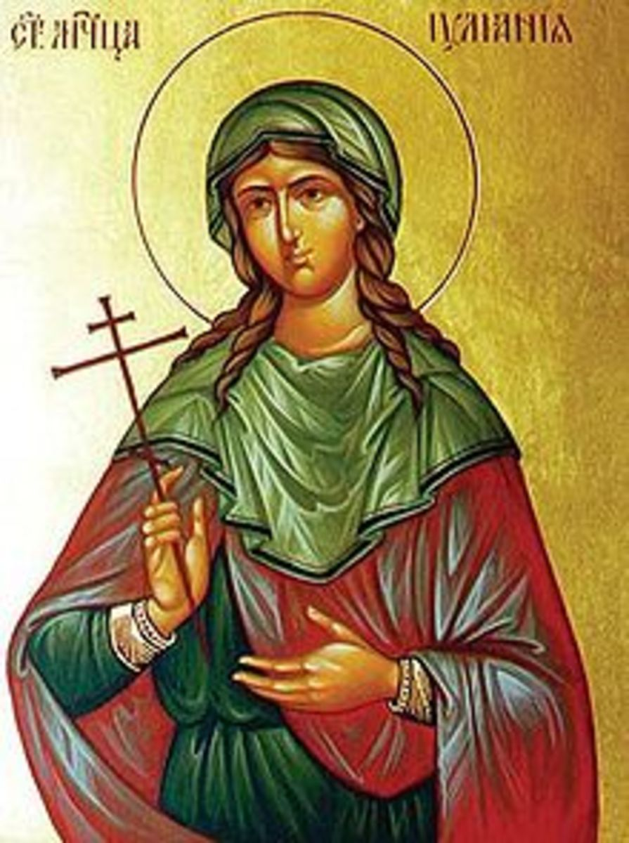 Juliana was martyred in 304 A.D. due to the Diocletian's strict four edicts against Christianity.  Tortured and beheaded, she was only 18 years old.  She is the patron saint of the southern Bronze (or Honey) Gate of the Palace.