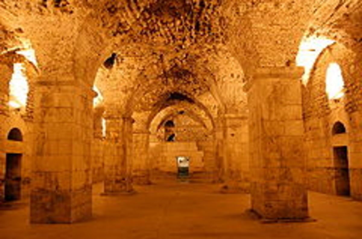 The most well preserved section of the Palace, its Substructure.  The Palace was built in 300 A.D.