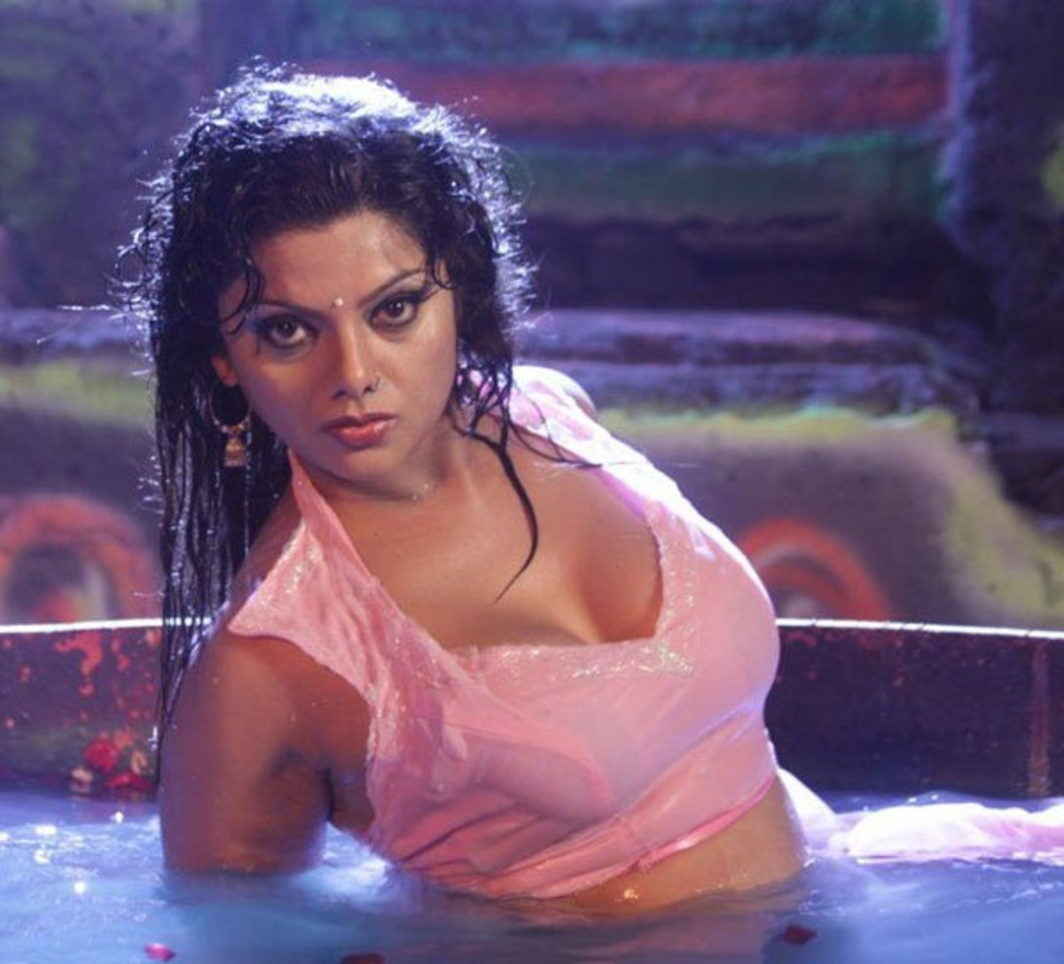 Swathi soaked in water
