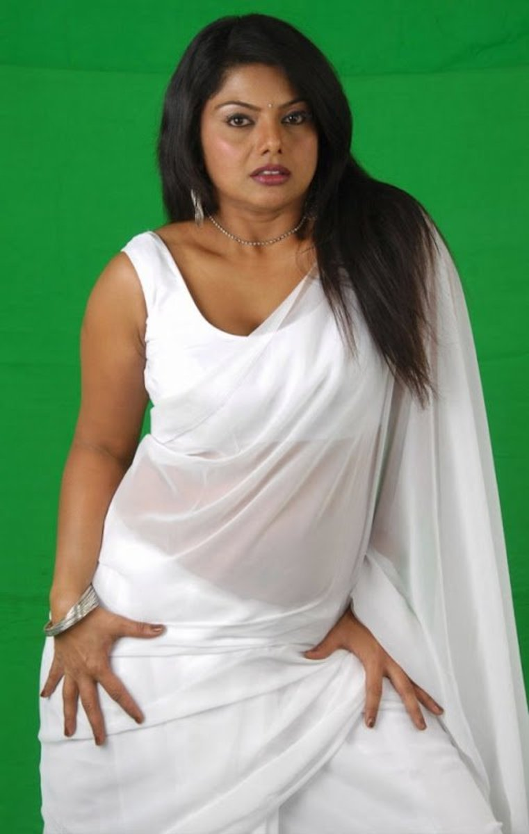 Swathi in white saree