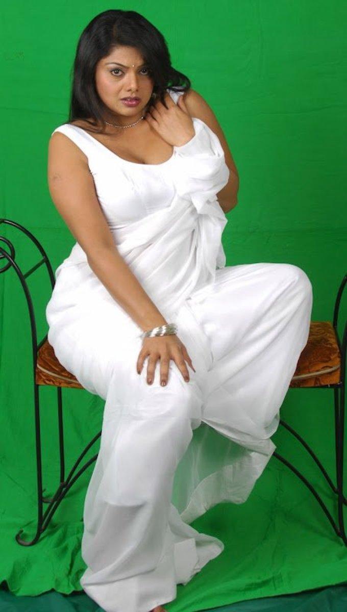 Swathi white saree photo shoot