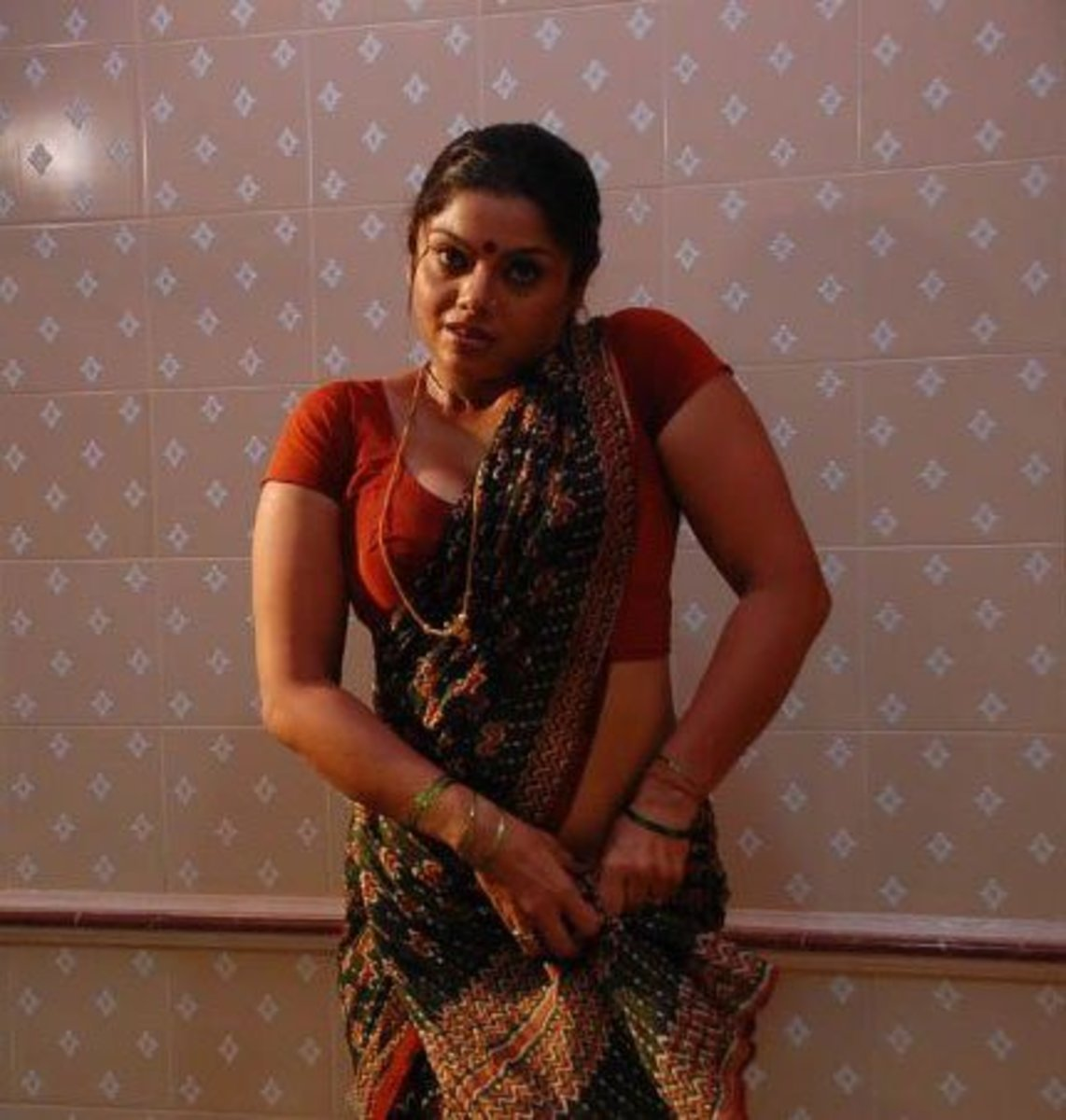 Swathi getting ready for the job