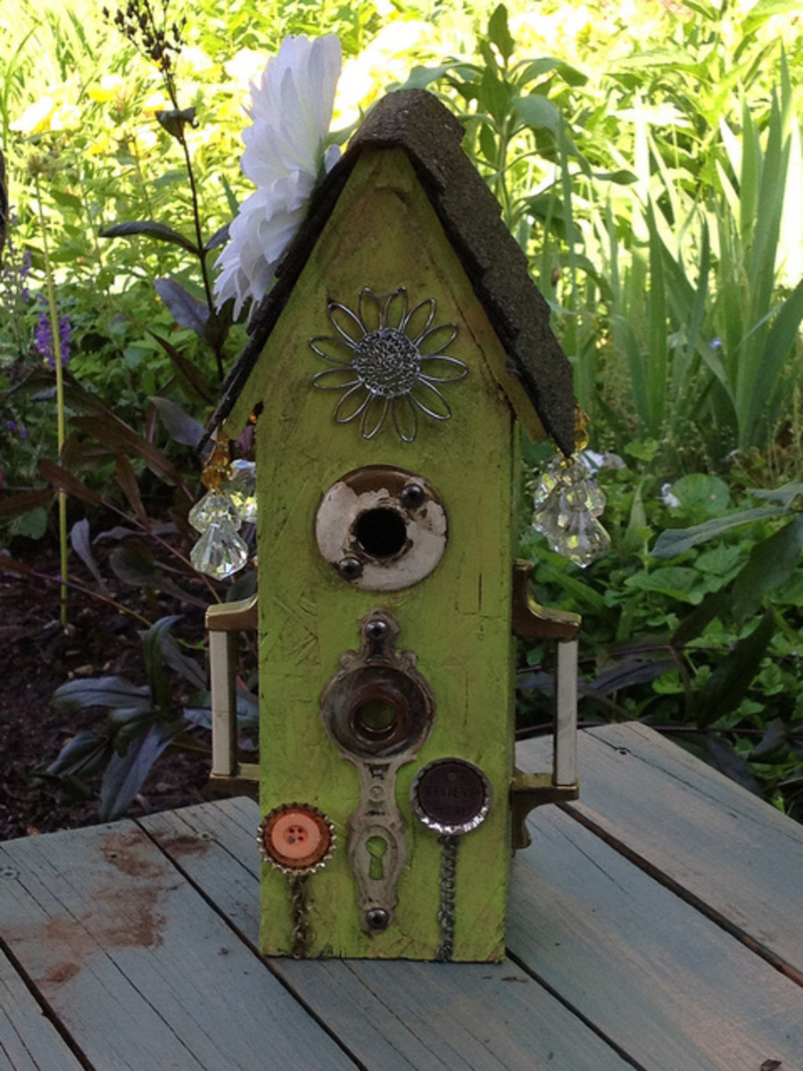 Flowery Bird house