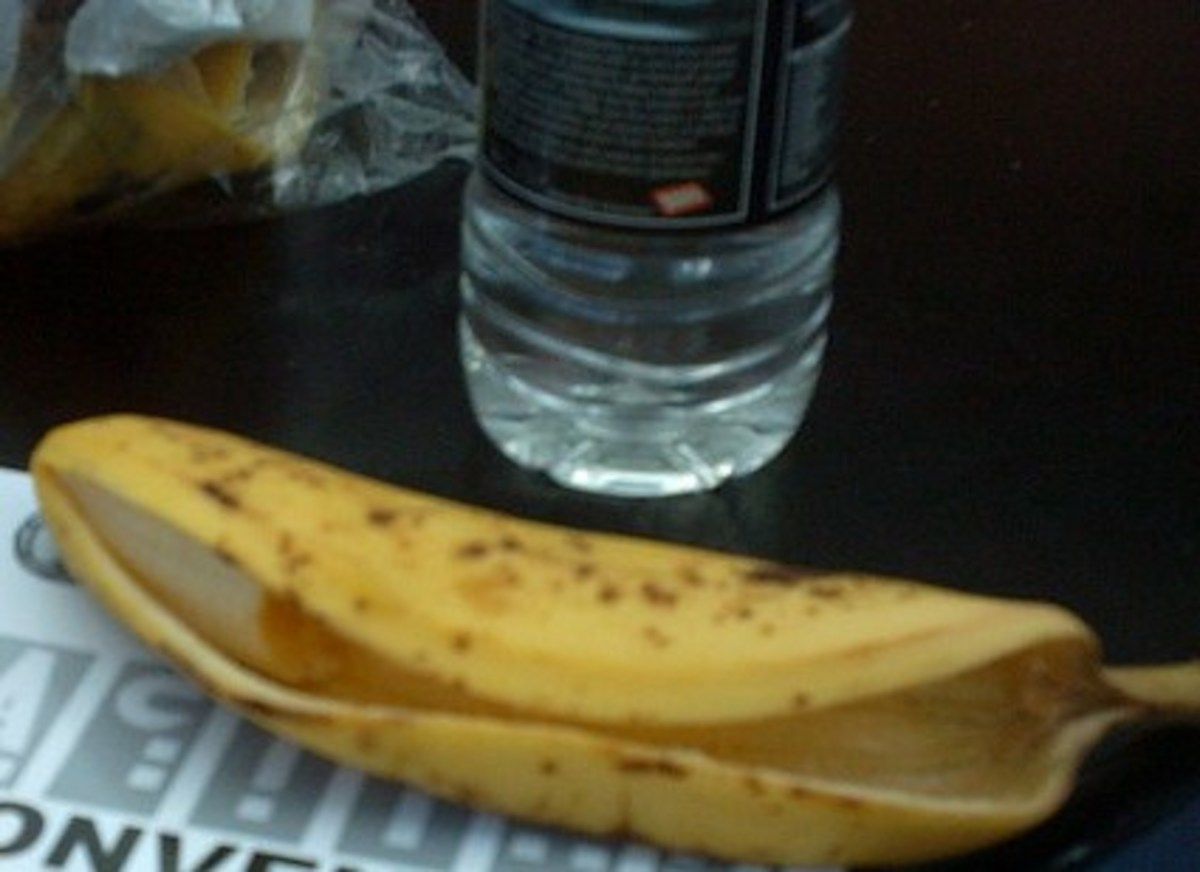 Next time you have a banana, drink some water with it.
