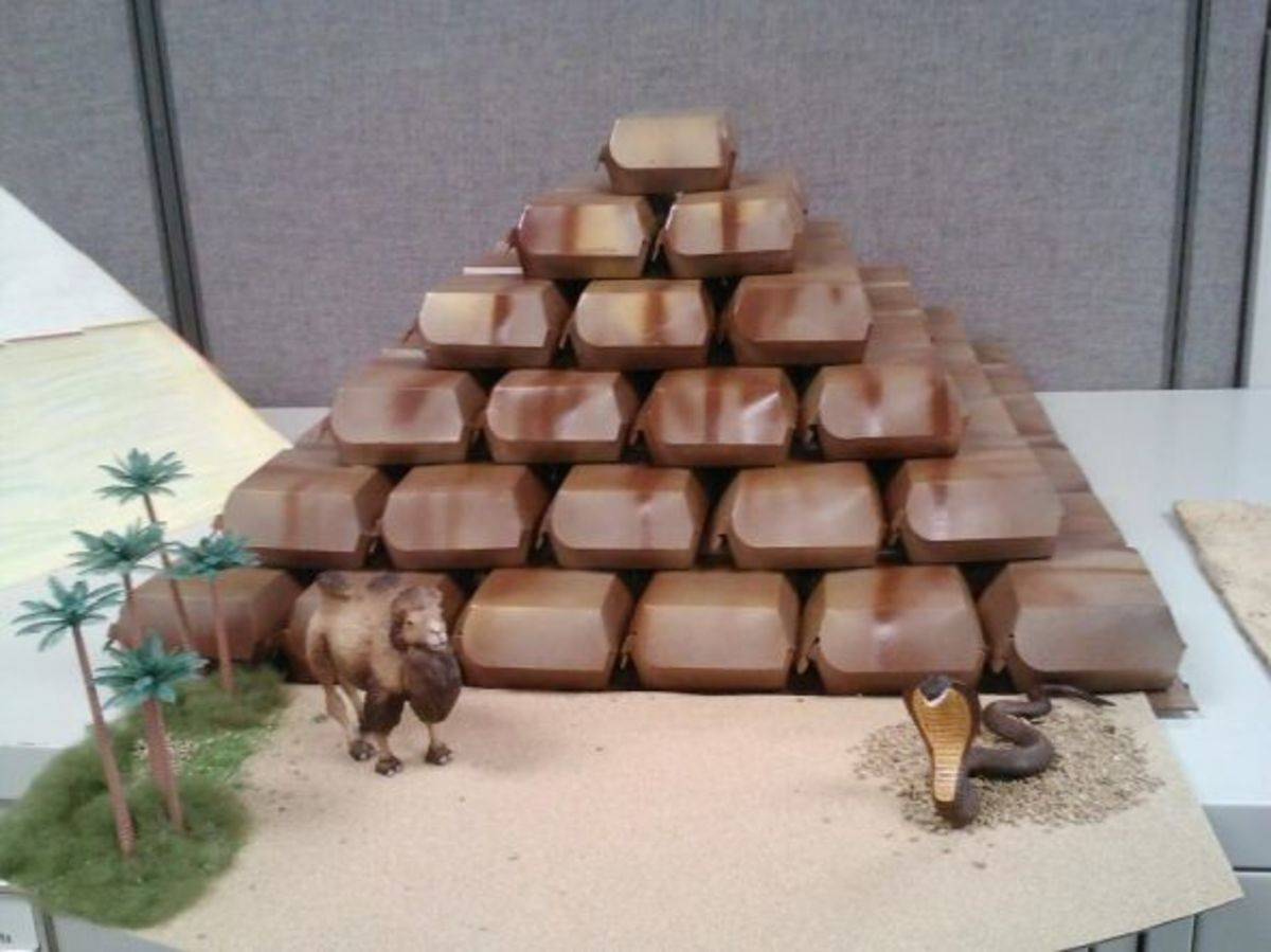 how to make a pyramid with clay