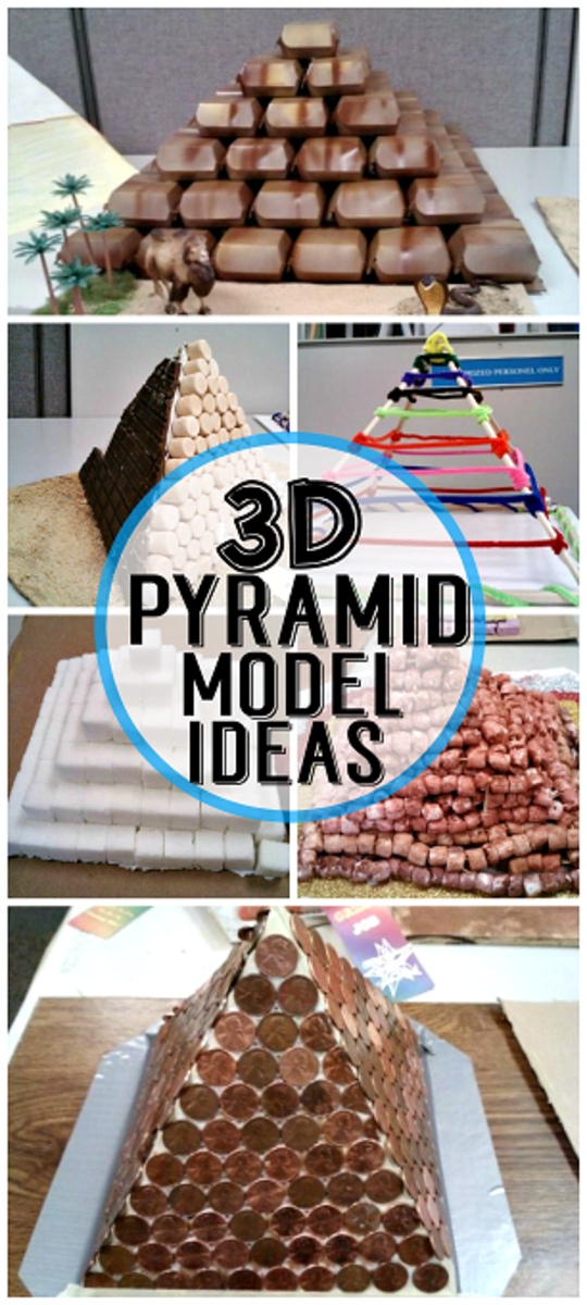 egyptian craft ideas 3d pyramid model project ideas hubpages 1949