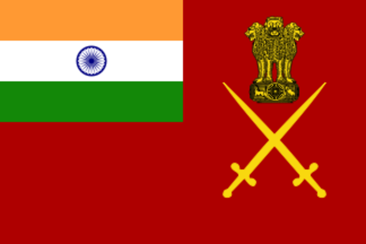 This is the flag of the Indian army. In the top right hand corner, you'll notice the three lions. Imagine if such a symbolic animal were ever to disappear.