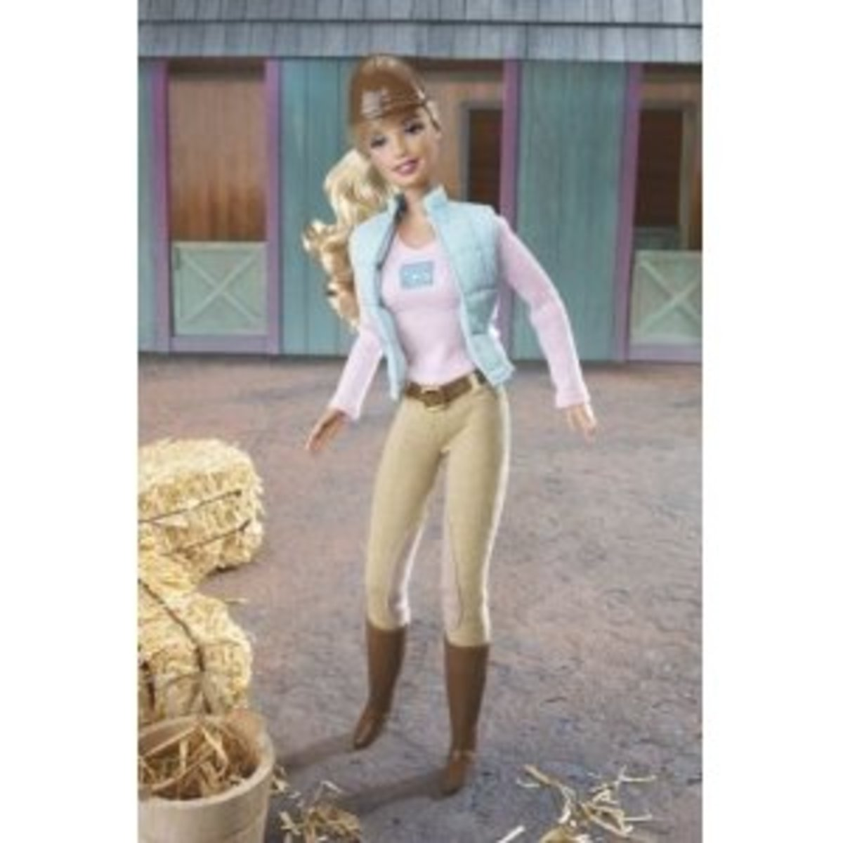 Modern Style Horse Back Riding Barbie Doll in Classic Tan Jophurs and Paddock Boots and Brown Riding Hat