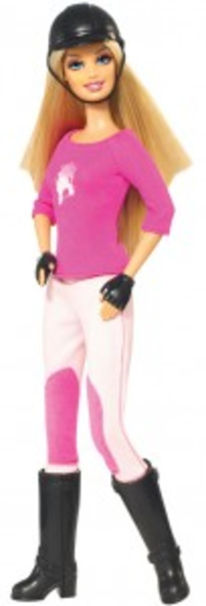 Horse Back Riding Barbie in Pink