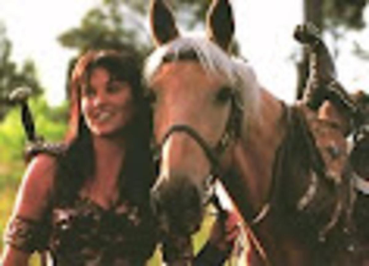 Xena Warrior Princess with Her Horse Argo