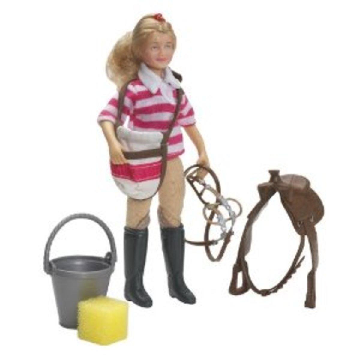 Breyer Eva Saddle Up Set - Doll and Paddock Gear