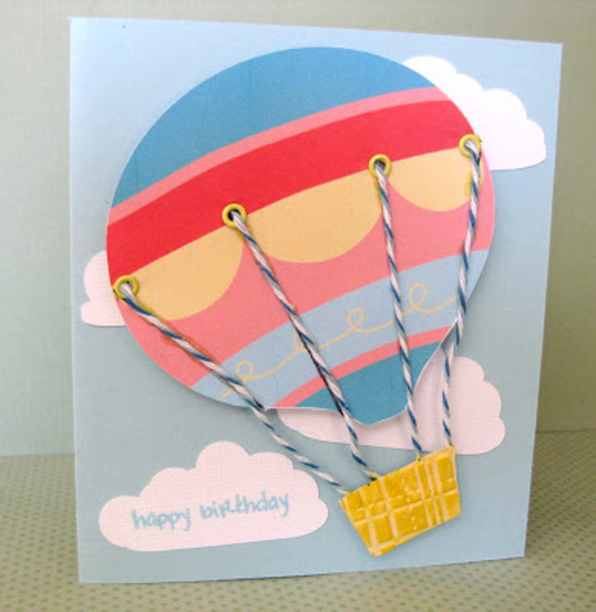 Homemade hot air balloon greeting cards ideas birthday for 3d christmas cards to make at home