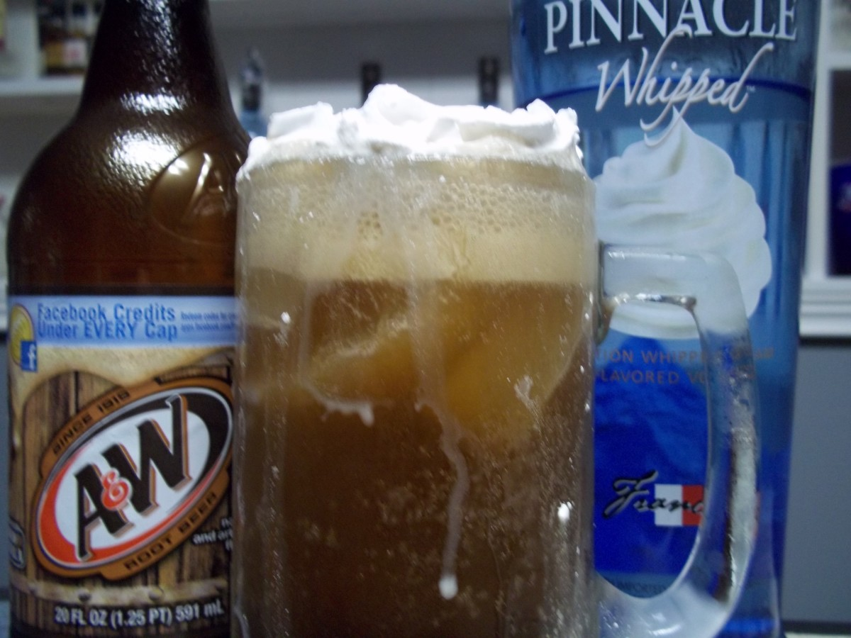 Whipped Vodka Root Beer Float