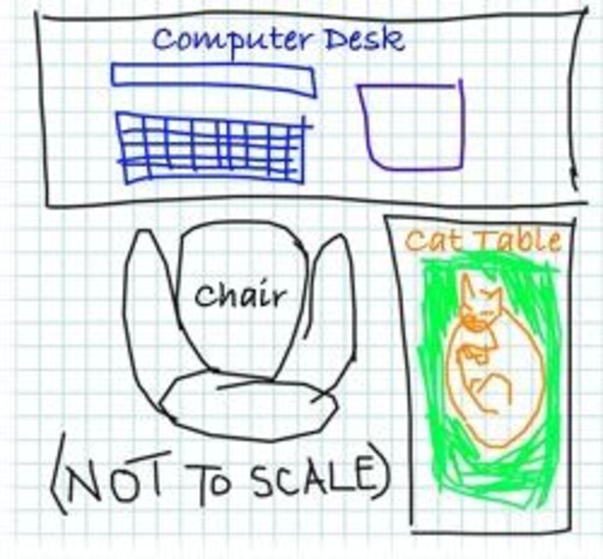Mom's Cat Desk