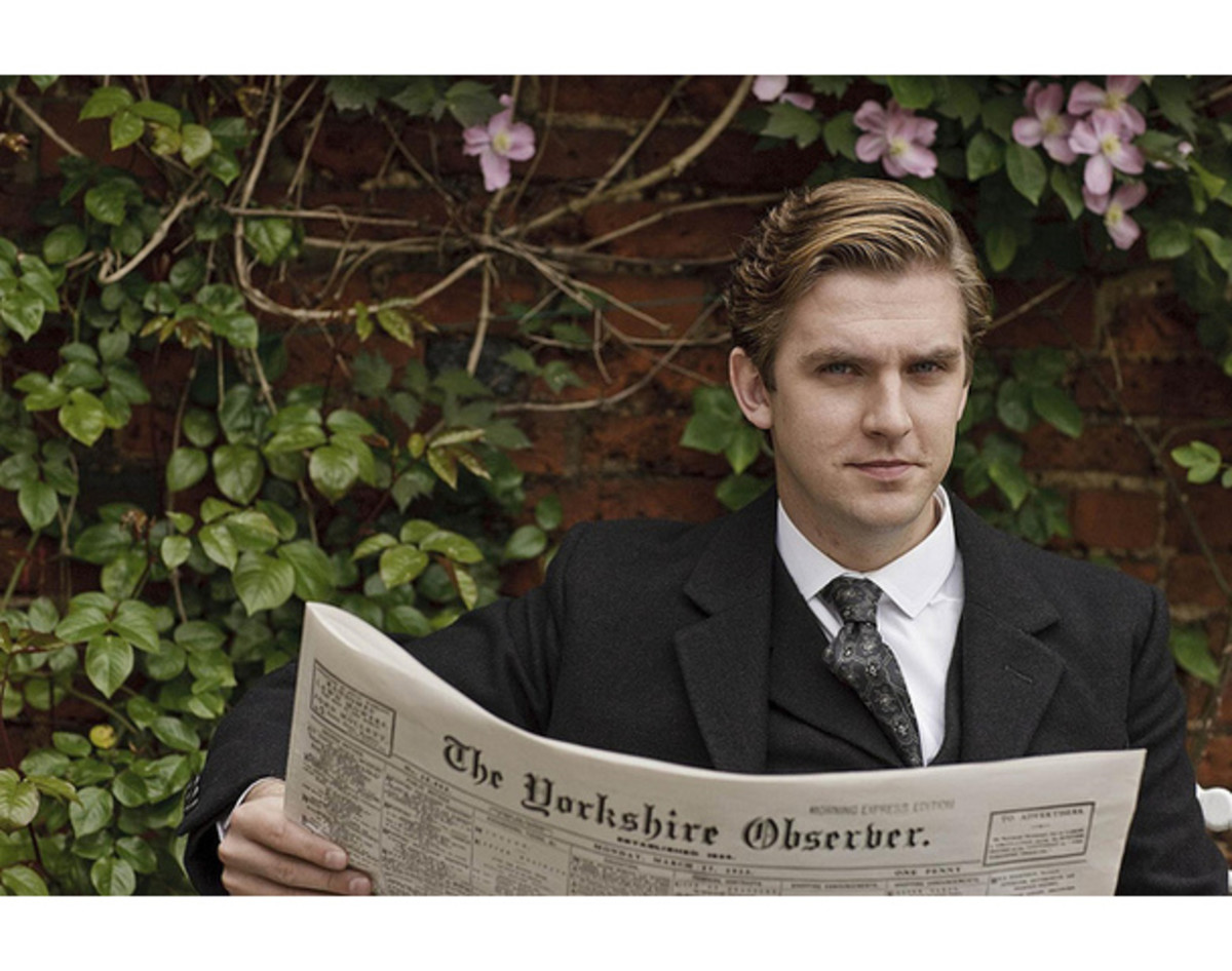 """It's funny how people call Downton Abbey fashoin """"period costumes"""", when most Western men these days go through their entire lives never venturing past this """"costume"""" (sleeved shirt, slacks, suit and tie)"""