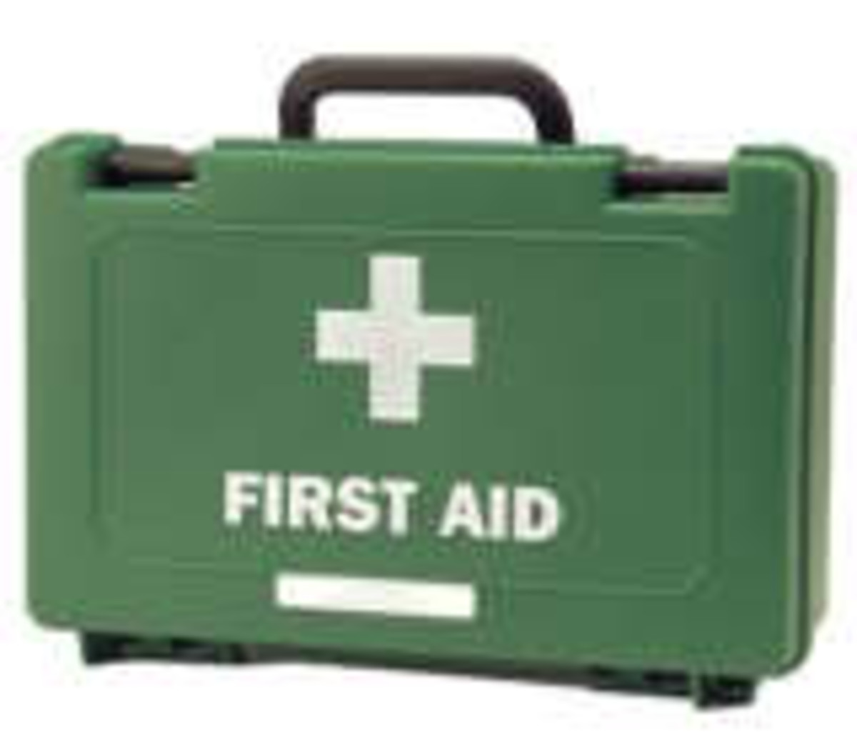 Typical First Aid box for use on school trips.