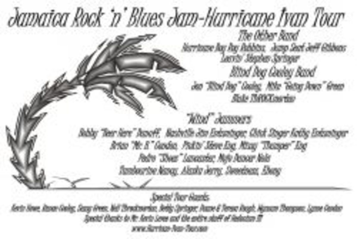 Hurricane Ivan T-Shirts for Jamaica Rock 'n' Blues jam
