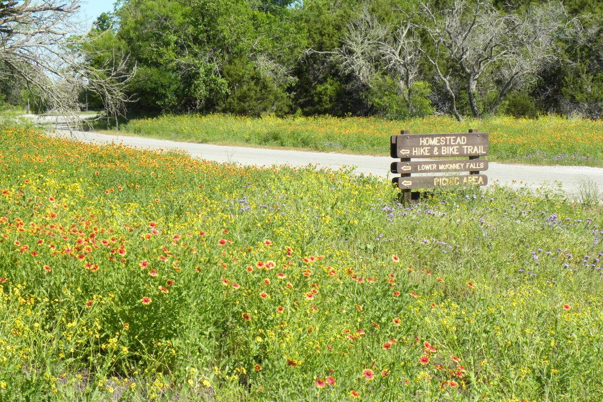 Mckinney Falls State Park Signs - Austin TX