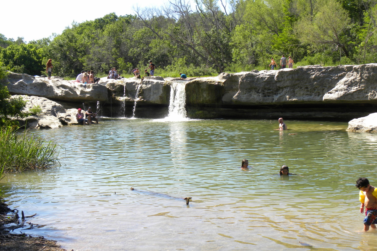 Mckinney Falls State Park Lower Falls Great swimming - Austin TX