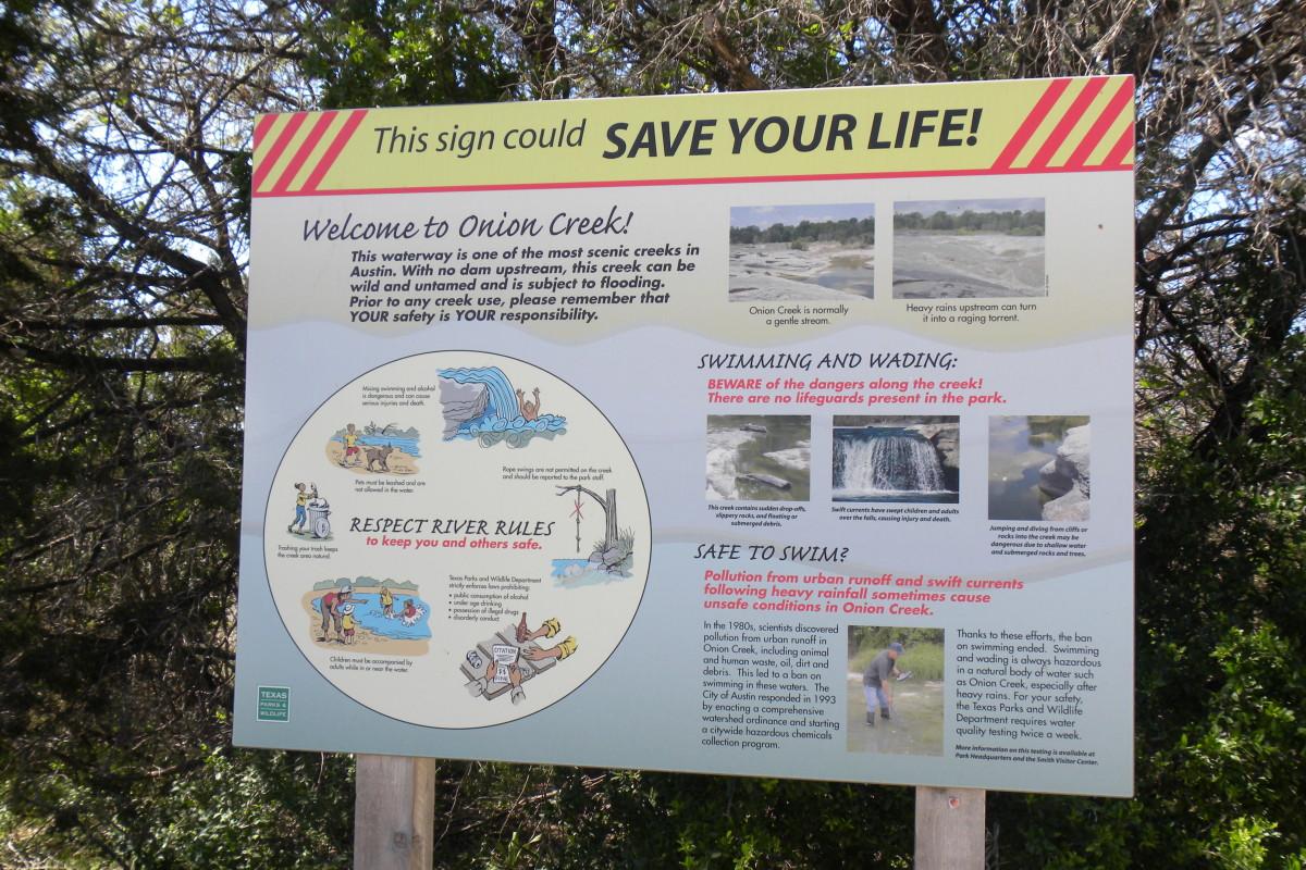 Park Safety Mckinney Falls State Park - Austin TX
