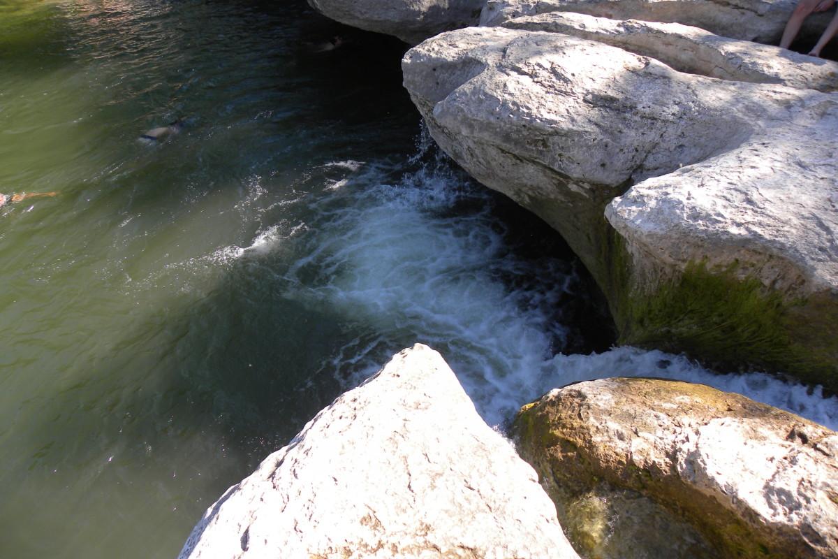 Mckinney Falls State Park the Upper Falls- Austin TX