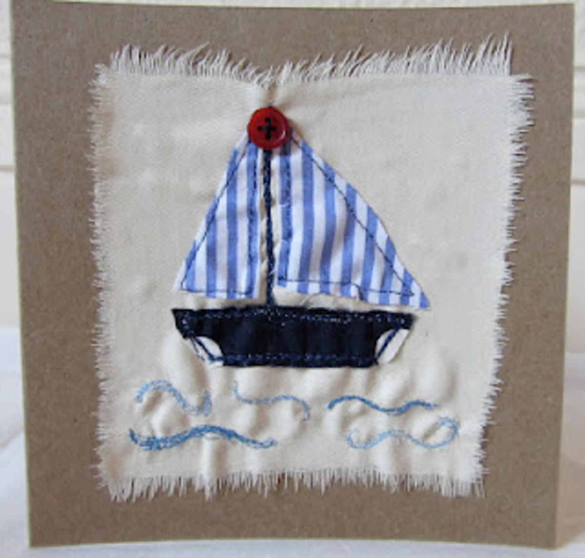 Check out this post for more summer inspired sewn cards.