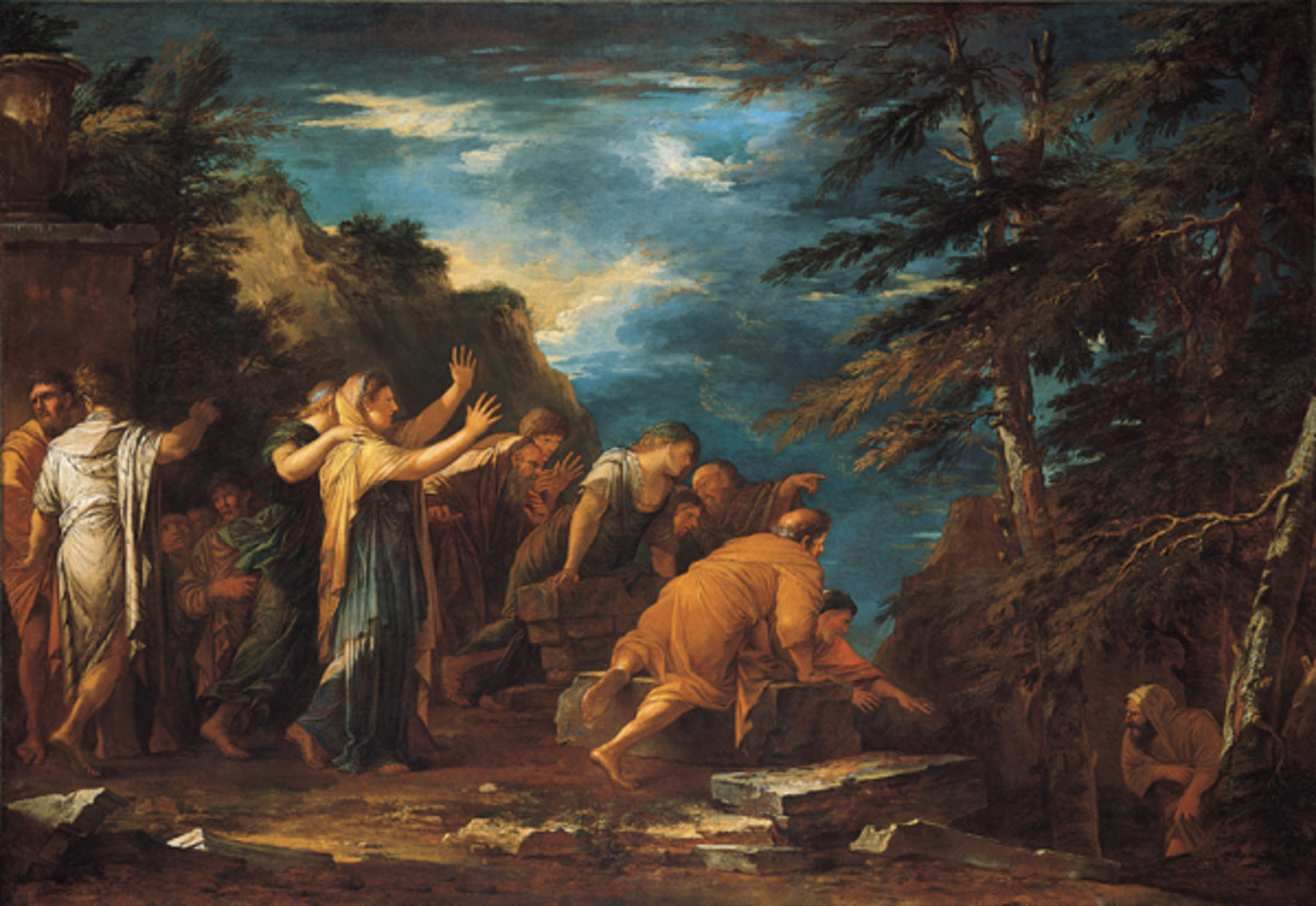 Pythagoras emerging from the Underworld, oil on canvas painting by Salvator Rosa