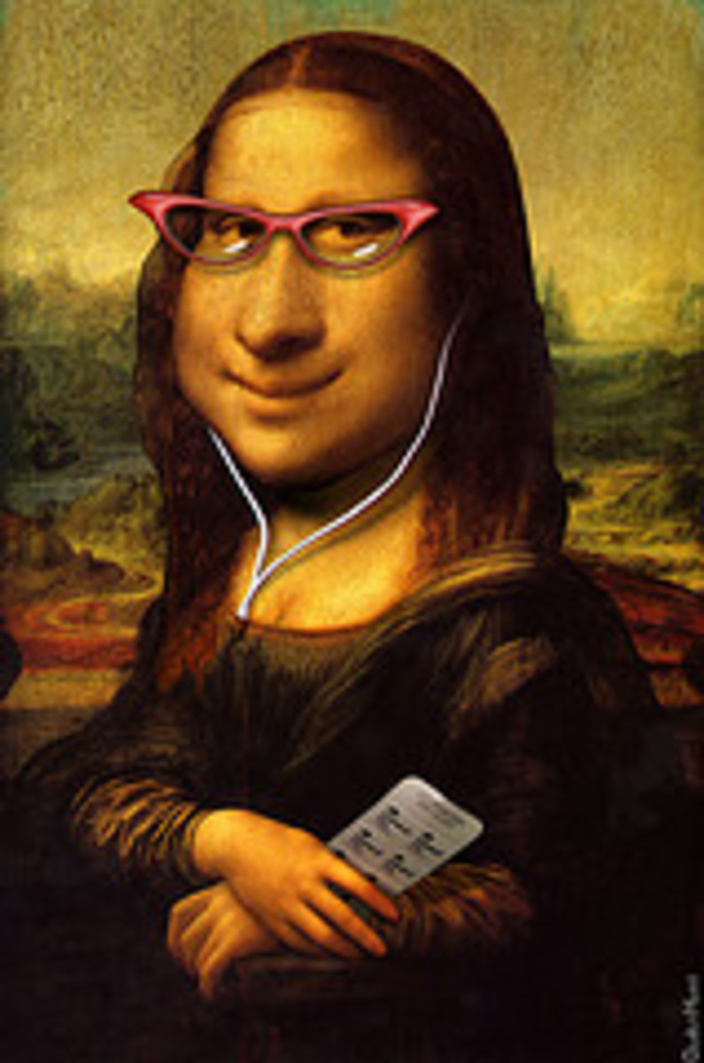 DonkeyHotey's Mona Lisa Caricature