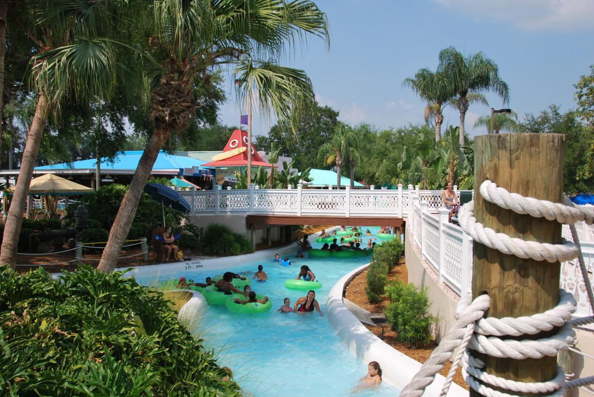 Adventure island outdoor water park, Tampa, Florida