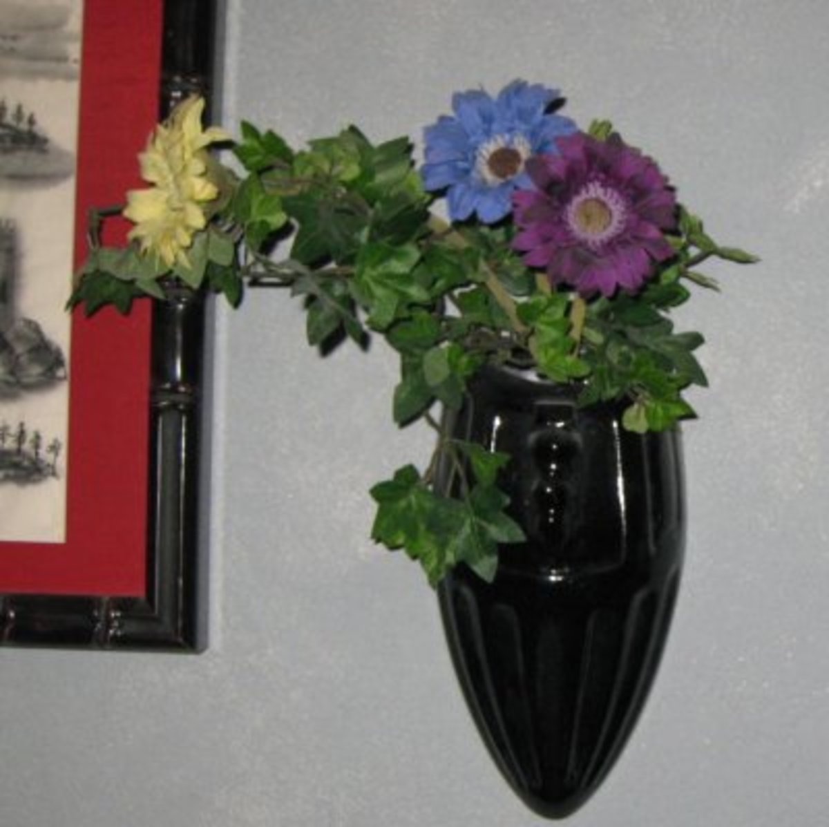 Wall Pocket with Flowers