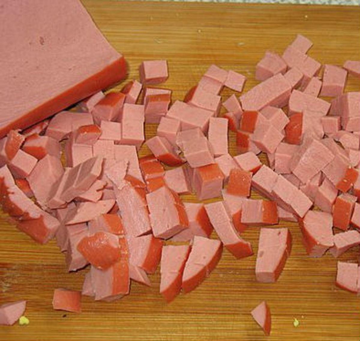 Cut sausage
