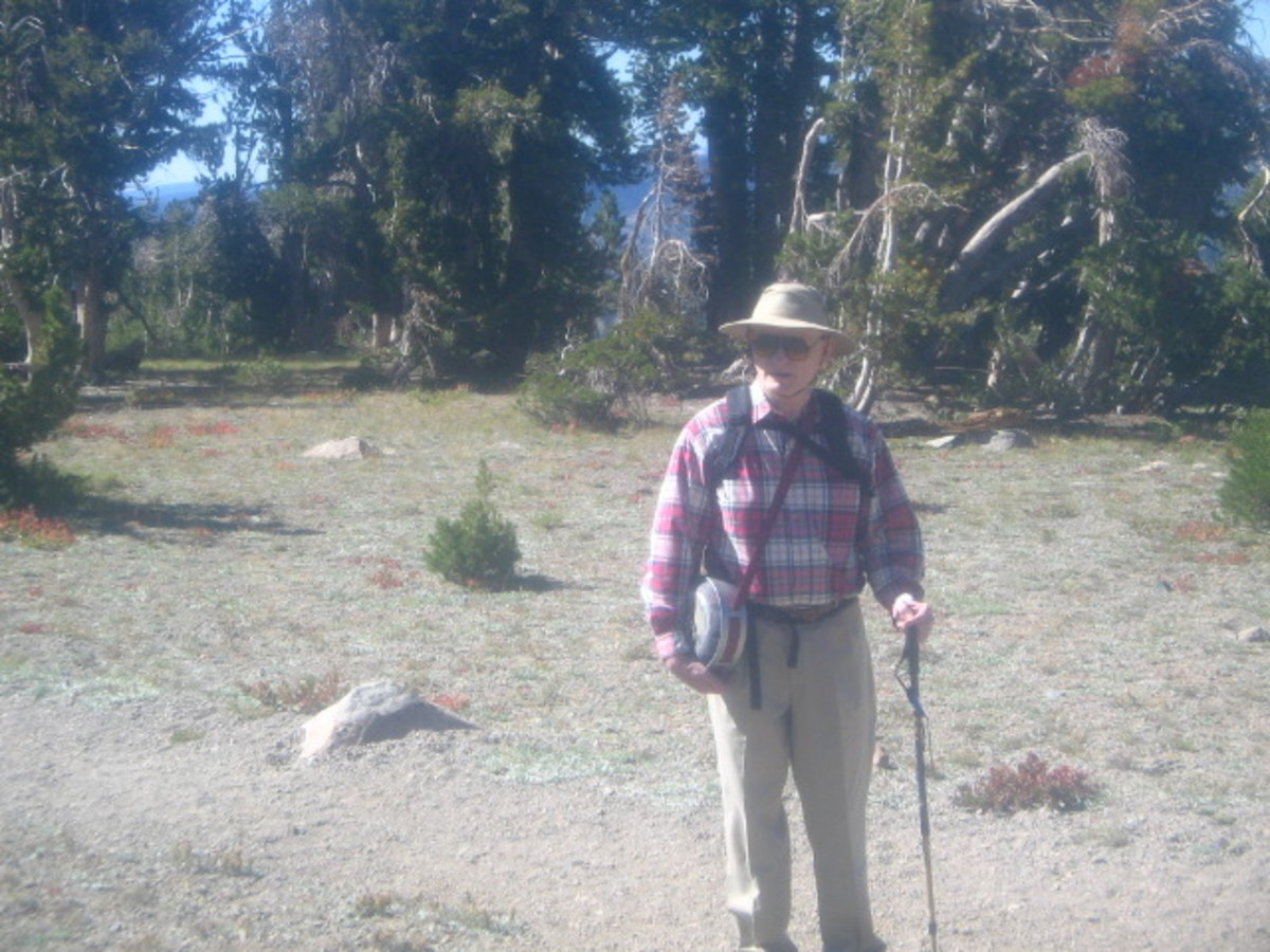 Yours truly on a short hike to Round Top Lake, in California's Northern Sierras