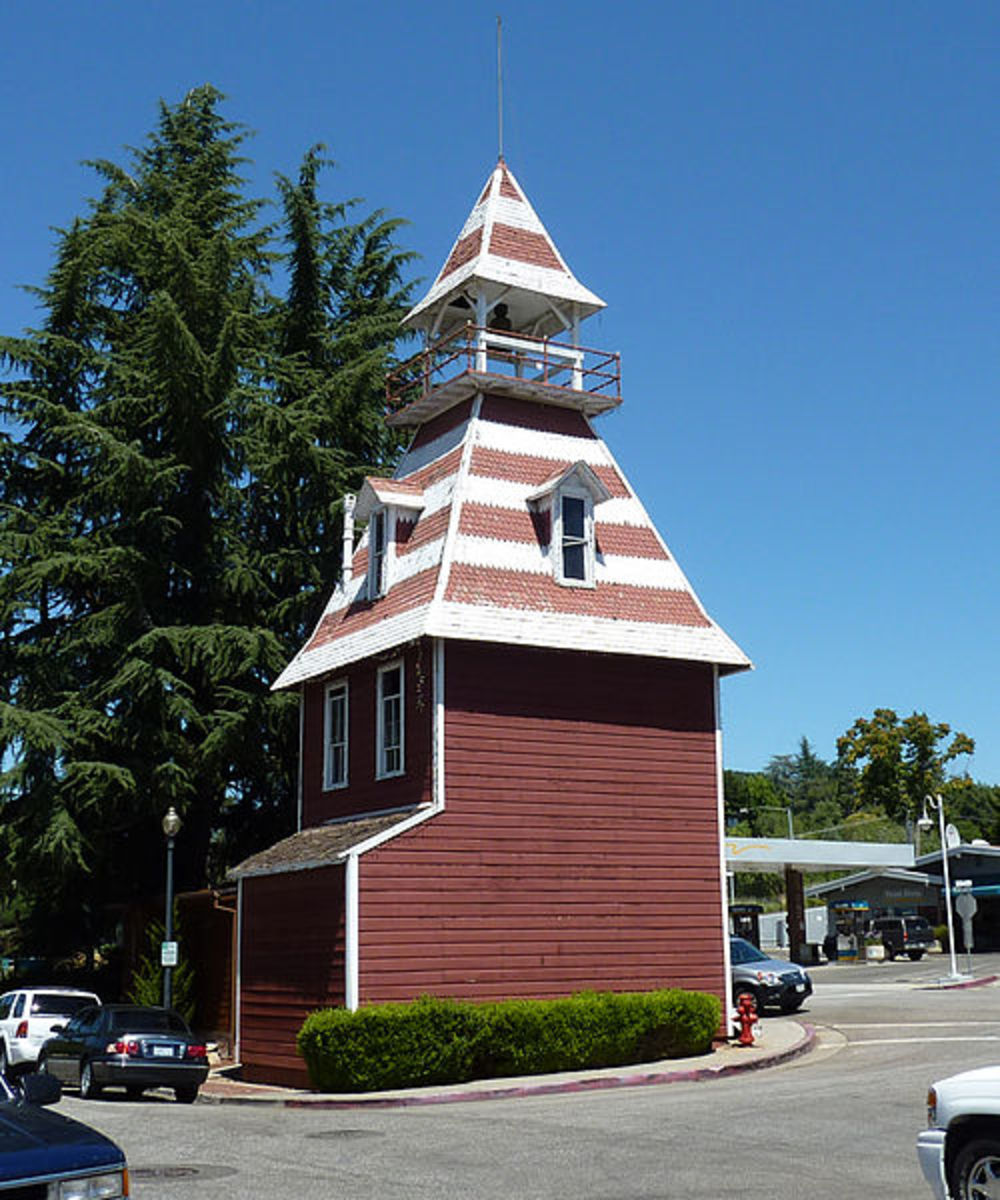 Historic firehouse in Auburn, California, in the Northern Sierra foothills