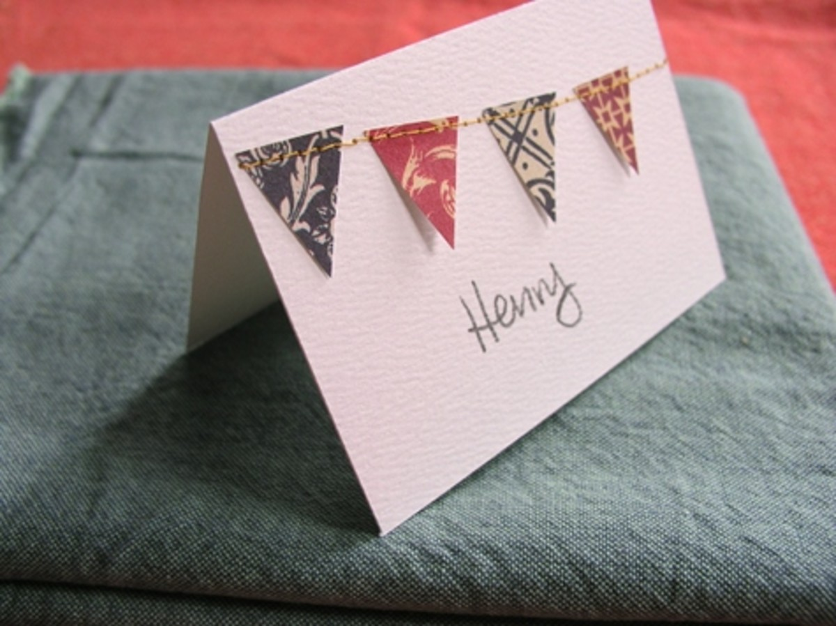 This tutorial is for place cards, but of course you can customize this concept for any type of card.