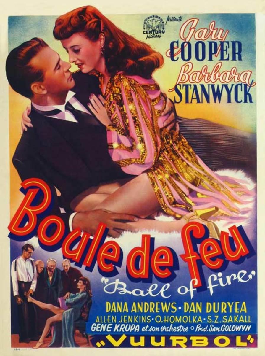 Ball of Fire (1941) Belgian poster