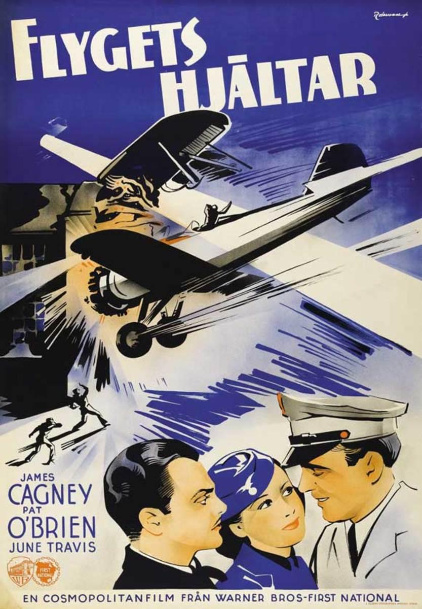 Ceiling Zero (1936) Swedish poster