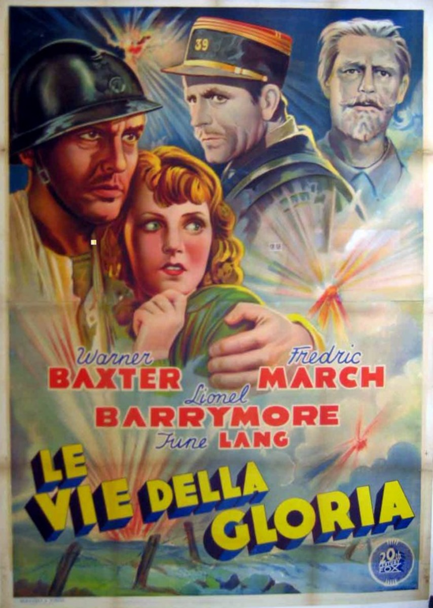 The Road to Glory (1936) Italian poster