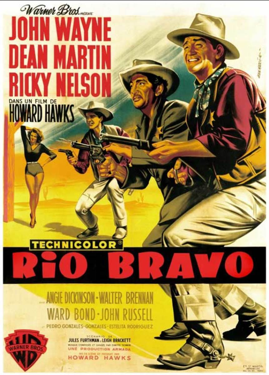 Rio Bravo (1959) French poster