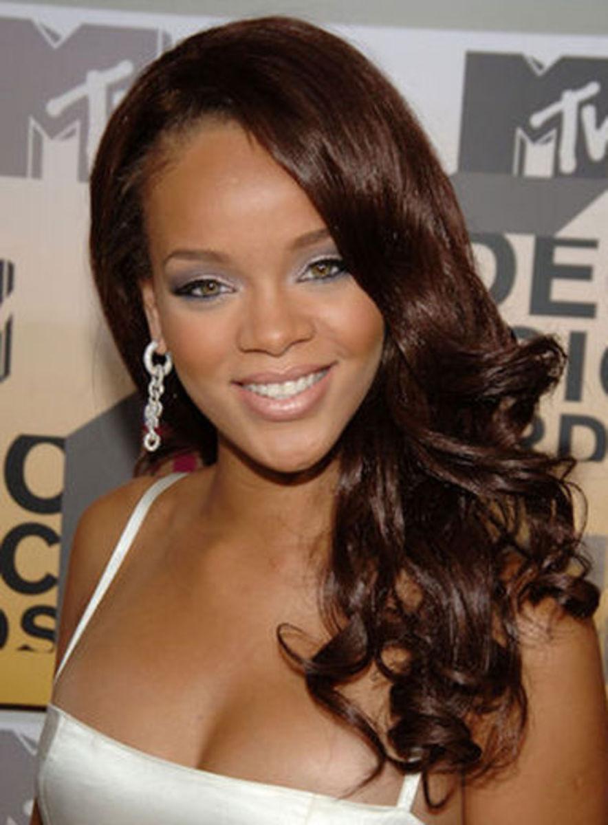 Rihanna with Deep Brown Hair