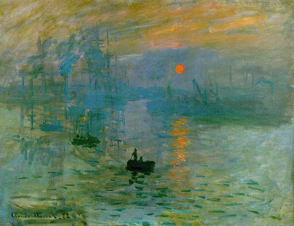 """Impressions, Sunlight"" painted by Claude Monet, one of the originals of the Impressionist painters in Paris."