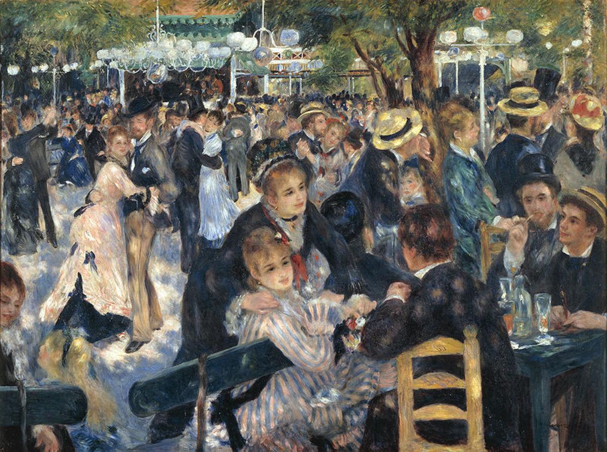 """""""Dance at Le Moulin de la Galette""""  1876  Musee d'Orsay   Paris, France"""
